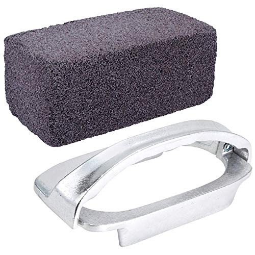 Tiger Chef Grill Cleaning Brick and Grill Brick Holder - Griddle Cleaning Brick Block - Grill Stone for Cleaning Flat Top BBQ Grills