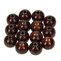 Wooden Beads for Jewellery Making 14mm beads Hole diameter 3mm approx 18 beads per bag Not suitable for children under 5