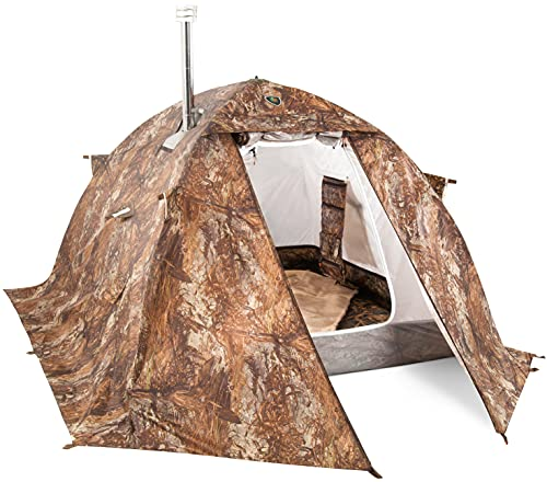 cold weather tents for campings Russian-Bear Hot Tent with Stove Jack - Camping Hunting Ice Fishing Cold Weather Tent with Wood Burning Stoves - All 4 Season Yurt Luxury Winter Tent
