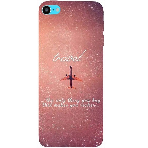Casotec Travel Design Hard Back Case Cover for Apple iPod Touch 6th Generation