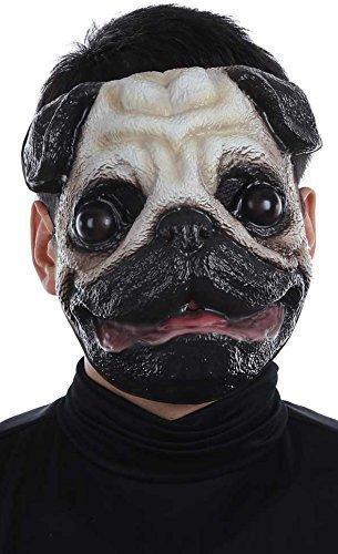 Fancy Me pour Hommes Femmes Carlin Animal Halloween Festival Costume Déguisement Masque
