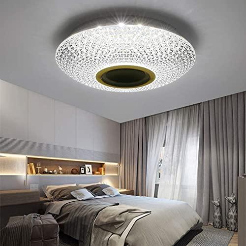 XIAOJUAN/Hermosa decoración: 256 RGB Luz de techo LED regulable, lámpara de techo con aplicación y control remoto, altavoz de música Bluetooth, luces de atenuación para la iluminación de techo de la
