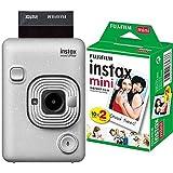 fujifilm instax mini liplay stone white fotocamera ibrida istantanea e digitale & instax mini film, pellicola istantanea per fotocamere instax mini