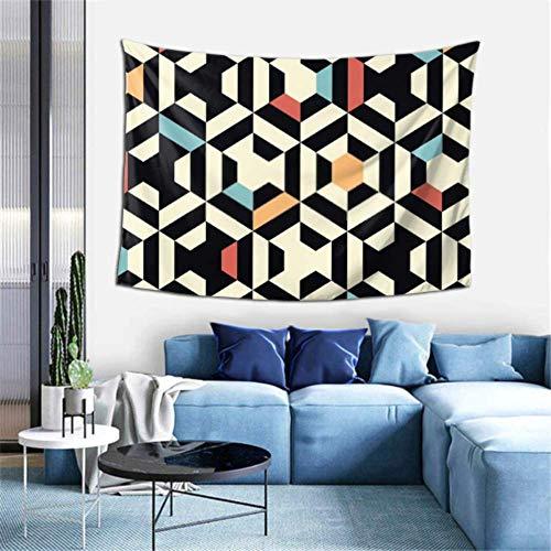 N\A Tapiz de Pared Vector Transparente Patrón de Tira geométrica Tapiz de Fondo Tapiz de Pared Tapiz de Pared para Dormitorio Decoración de Arte de Pared para Dormitorio Liv
