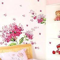 ロマンチックな桜の花の壁のステッカーのためのウェディングルームの家の装飾リビングルームの寝室のハジアピンクの花の壁画