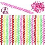 32 Stück Magic Spiral Lockenwickler über Nacht ohne Hitze - Spirallockenwickler Hair Curler rolls (32 Stück)