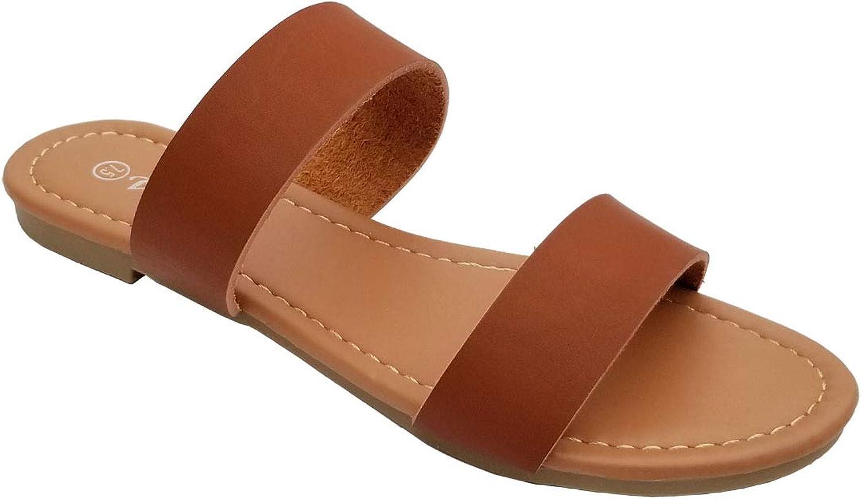 Wel Elegant Women's Fashion Braided Straps Black Flip Flop Sandals