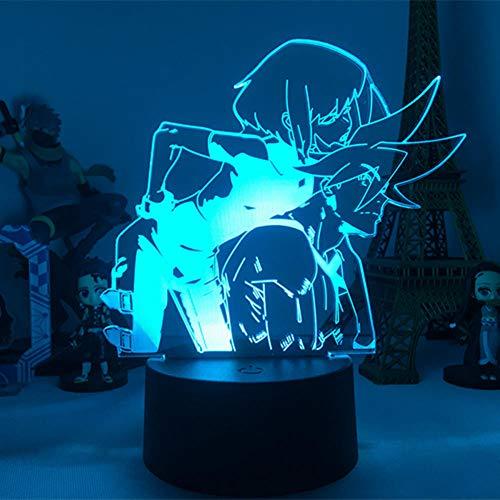 DUYAO00 Halloween Anime Gurren Lagann Simon LED Night Light for Bedroom Decor Night Lamp Tengen Toppa Gurren Lagann Gift Acrylic Neon Lamp Regalos para mujeres