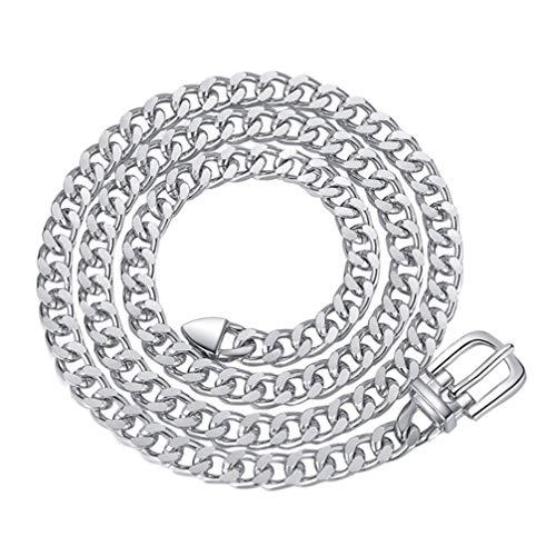 SOIMISS 1 Pza Cuerpo Cadena Cinturón Punk Rock Cintura Cinturón Oro Plata Metal Jeans Vestido Cinturón Ajustable para Mujer