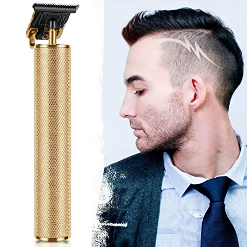 2020 New Cordless Zero Gapped Trimmer Hair Clipper, All Gold Hair Trimmers for Men 0mm Baldheaded Hair Clipper