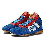 Willsky Botas De Boxeo, Muchacha del Muchacho De Lucha del Combate Los Zapatos Deportivos Zapatos para Niños Suela De Goma De Artes Marciales Tamaño Fresco,Azul,38