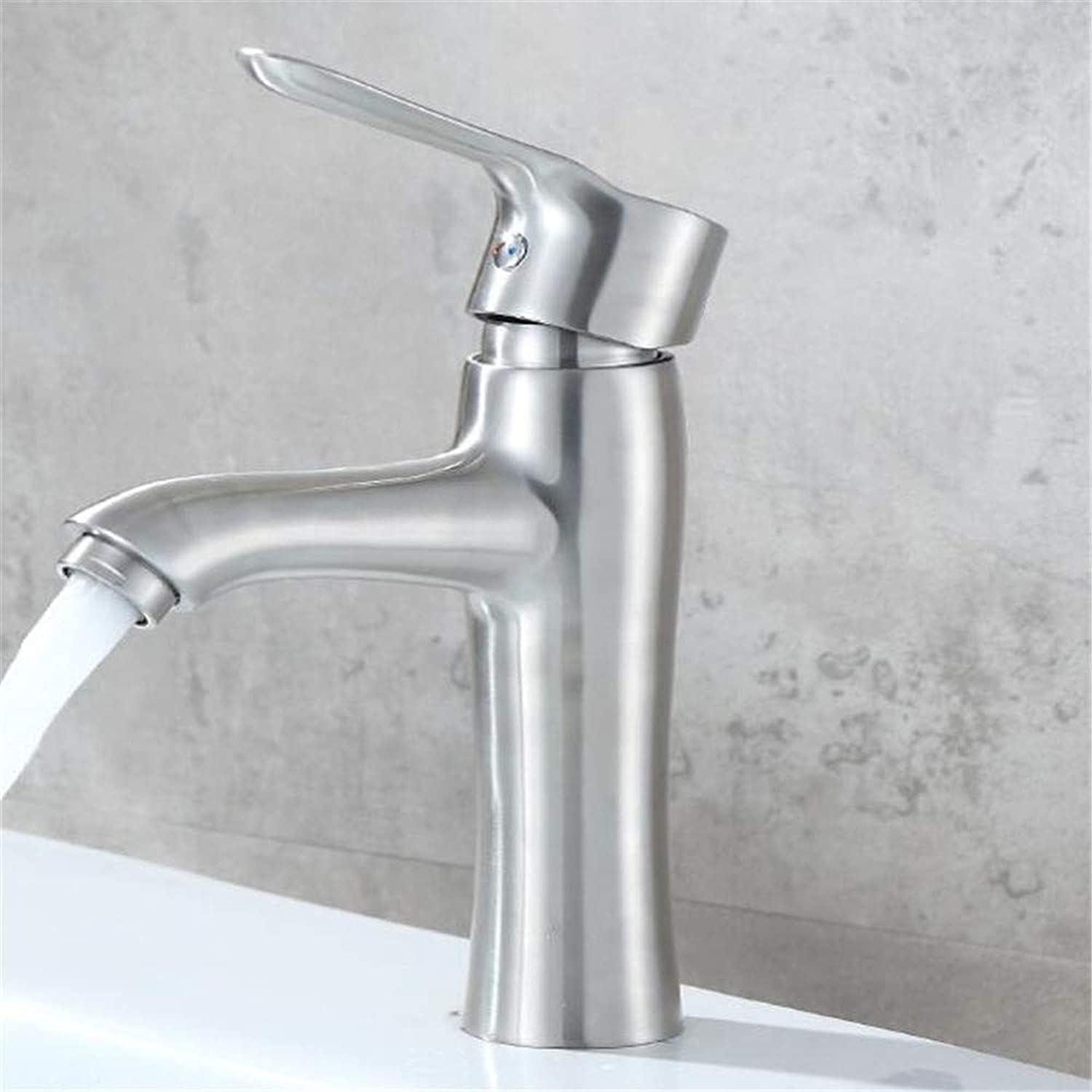 304 Stainless Steel Single Hole Basin hot and Cold Faucet Bathroom Bathroom Cabinet wash Basin Sink Faucet