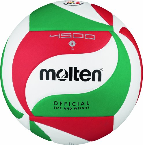 Molten Volleyball - 5, White/Green/Red: Amazon.es: Deportes y aire ...