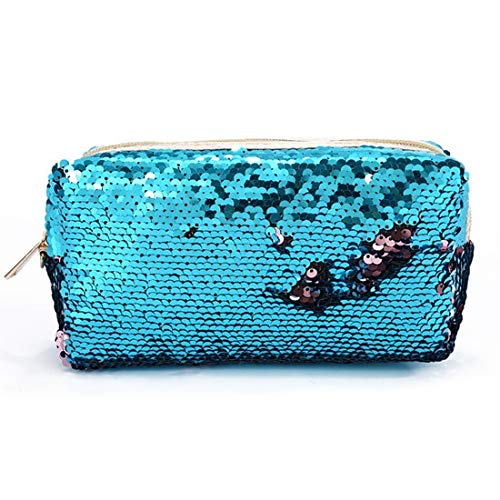 Sequins Glitter Cosmetic Bags Double Color Sequins Handbag Cosmetic Bag Makeup Pouch Women Mermaid Party Clutch Bags 120*9.5cm