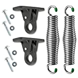 SwingMate Porch Swing Hanging Kit - 750 Lbs. Capacity - Proudly Made in The USA - Patented Heavy-Duty Suspension Swing Hangers and Springs for Hammock Chairs or Ceiling Mount Porch Swings - (Chrome)