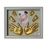 7777777 3D de Yeso de Huellas Dactilares del Partido del Molde del bebé hogar Regalos Decoración Huella de la Mano del Fabricante de Recuerdo para Niño