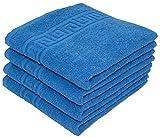 Juego de toallas absorbentes, en rizo de algodón natural, 500g/m², calidad...