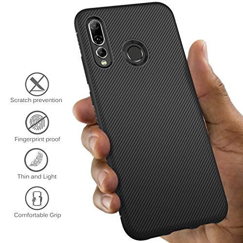 iBetter für Huawei P Smart Plus 2019 Hülle, für Honor 20 lite Hülle, Ultra Thin Tasche Cover Silikon Handyhülle Stoßfest Backcover Hüllen passt für Huawei P Smart+ 2019 Phone(Schwarz) - 3