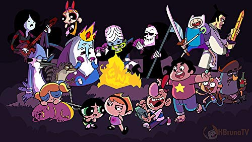 Adventure Time Steven Universe The Grim Adventures Of Billy And Mandy Powerpuff Girls Poster Stampa 30,5 x 45,5 cm (Multicolor)