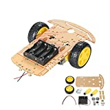 KKmoon 2 Sets Motor DC Gear + Rueda para Neumáticos para Arduino DC 3V-6V Smart Car DIY Project 2pcs DC Motor eléctrico con 2 Piezas de plástico de Juguete Rueda de neumático (Tipo2)