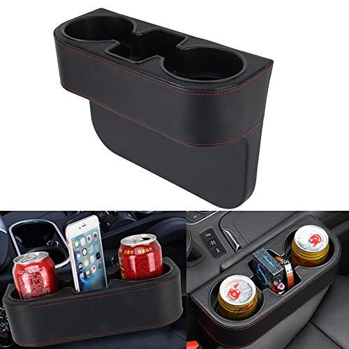 Autositz-Organizer in Herzform, mit Lederbezug, tragbar, universal, zum Verstauen von Getränken, Getränkehalter, Autositz, Getränkehalter, Auto-Aufbewahrungsbox, PU-Leder