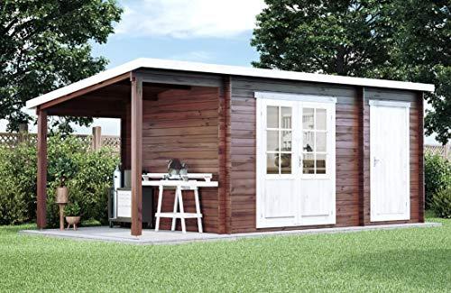 CARLSSON Alpholz Gartenhaus 250x250 Maria mit...