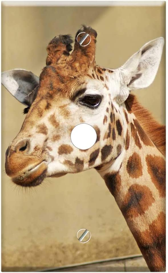 Single Hole Device Telephone Mail order cheap Cable Wall An Plate Sale item - Cover Giraffe