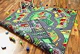 Lernen und Spielen Metropolis - Alfombra Infantil - Reversible- con Carreteras por Las Dos Caras, Tamaño:200x300 cm