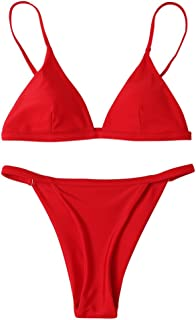 CANSHOW Women Push Up Triangle Bikini Sets Brazilian Swimwear Beachwear Swimsuit