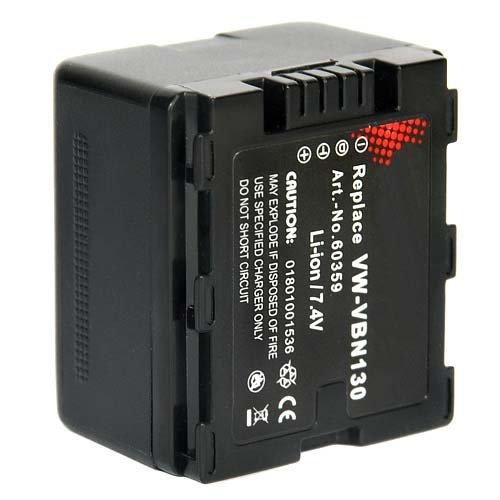 Akku für Panasonic Full HD 3MOS HC-X900M, HC-X909, HC-X800, HCX900M, HCX909, HCX800 VW-VBN130 VW-VBN 130 - 1050mAh