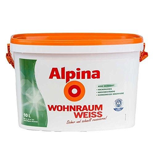 Alpina Farbe Wohnraum Weiß 10 l Wand Deckenfarbe