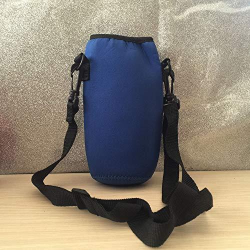 SIRIGOGO - Funda para botella de agua de neopreno para botella de agua de 1000 ml, ideal para botellas de agua de acero inoxidable y plástico, bebidas deportivas y energéticas, azul