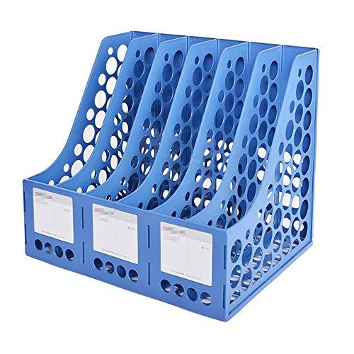 Rack de Almacenamiento de Archivos Portarevistas Rack de Escritorio 6 Compartimentos Cuadernos Documentos de Archivo Organizador del Archivo del Escritorio (Color : Azul, Size : 34x26.1x29.7cm)