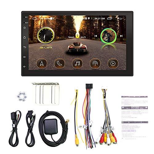 SHOH autoradio, Bluetooth autoradio, achteruitrijcamera, WiFi-internettoegang, digitale mediaspeler, 7 inch touchscreen met 1024 x 600 HD, FM-radio met auto-audio, MP3-speler voor auto, handsfree bellen