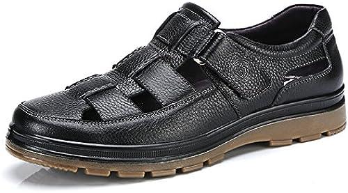 Sommer Herren Leder Closed Toe Sandalen Breathable Business Casual Schuhe Outdoor Wandern Terrking Schuhe