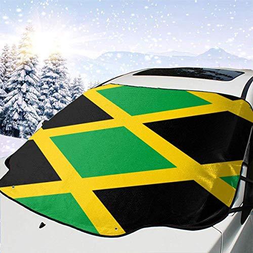 Kejbr Jamaica Flag Frontscheibe Snow Cover Car Snow Cover Car Front Frontscheibe Cover Summer Sun Protector for Car SUV Trucks Minivans Windsheild Sun Shade Defense No Scratches