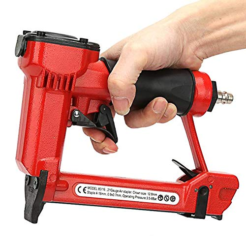 Handheld eléctrico clavadora neumática, pistola de aire uñas Tratamiento de la madera grapadora interior Muebles Decoración Carpintería Herramientas