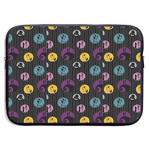 Neoprene Laptop Sleeve Bag Jack Nightmare Before Christmas Waterproof Shock Resistant Bag Case Cover Compatible 13-15 Inch Notebook