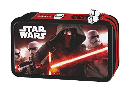 Star Wars Federmappe gefüllt 26 teillig doppelstöckig Episode 7 Federtasche Federmäppchen