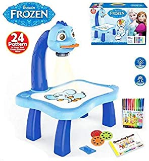 Heckle n Jeckles 3 in 1 Kids Painting Drawing Activity kit Projector Table