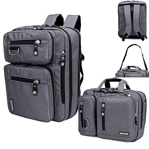FreeBiz Multifunktions-Laptoprucksack mit Griff und Schultergurt für bis zu 43,2 cm Gaming-Laptops Computer Notebook für Dell Hp Asus Msi Tosiba Apple grau grau 15,6 zoll
