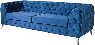 Chesterfield Fha060 Palazzo - Sofá Barroco de 3 plazas (Terciopelo), Color Azul Marino