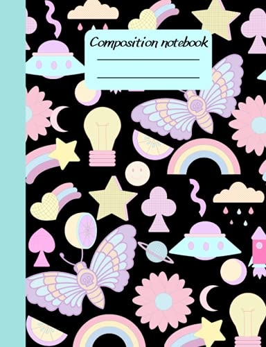 Pastel Shapes Composition Notebook: Wide Ruled Notebook   kawaii Fun dreamy Lined Journal for Teens girls kids Students   Cute Back to School book supplies Gift ideas.