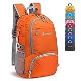 ZOMAKE 30L軽量パックバックパック防水ハイキングデイパック、小型旅行バックパック折りたたみ式キャンプアウトドアバッグ