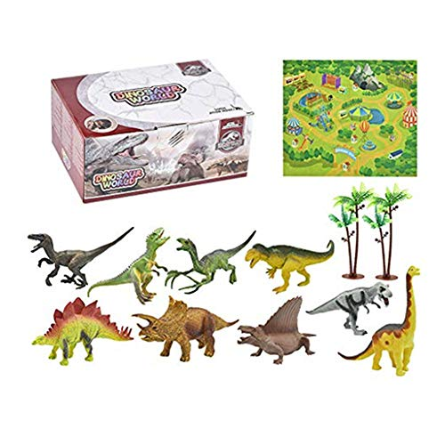 Lukame✯ Kreativer Spaß Aktivität Spielen Teppich Pädagogische Bäume Realistische Dinosaurier Welt Weihnachtsgeschenk Spielzeug