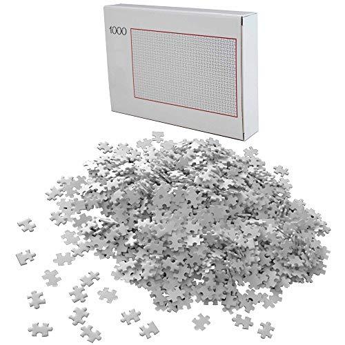 HAC24 Puzzle 1000 Teile Weiß Schwer Erwachsenenpuzzle Premiumpuzzle Geduldsspiel Erwachsene Knobelspiel