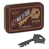 Gentlemen's Hardware Mehrzweck-Werkzeug aus Edelstahl, 14 Funktionen