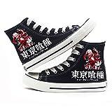 jiushice Tokyo Ghoulanime - Zapatos de lona unisex para adulto, con cordones, botines informales, zapatos deportivos para gimnasio, color, talla 40 2/3 EU