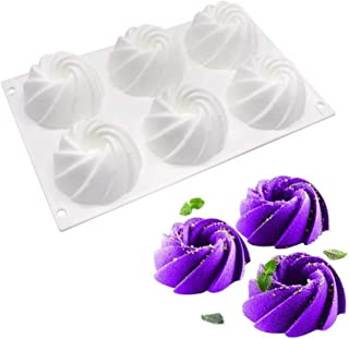 3D Cake Mould Swirl Silicone Mold for Baking Dessert Mousse Silicone Pastry Pan Cake Decoration Tools zhengpingpai