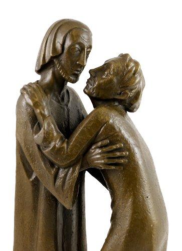 Das Wiedersehen (1930) - Ernst Barlach Skulptur - 100% Bronze - Christus und Thomas - Wohndeko Design Edel - 35 Plastiken - Bronzefigur - Deko Figuren - Kunst